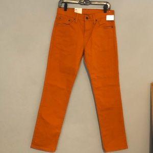 NWT Levis 511 Slim Fit Orange 30x30 Jeans